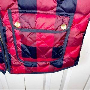 J. Crew Jackets & Coats - J.CREW    L Check Plaid Excursion Vest Buffalo Red
